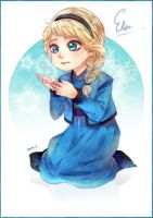 Little Elsa Disney Frozen by sayuko