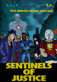 Bruce Timm's SENTINELS OF JUSTICE by LeevanCleefIII