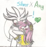 Silver X Amy by Soniclifetime