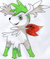 Shaymin (Sky Form) by IruzaNadiru