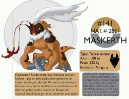 Pokemon Oryu 141 Maskerth by shinyscyther
