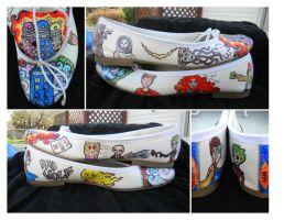 Doctor Who Custom Shoes - Who Shoes - Ballet Flats by DaleksinWonderland
