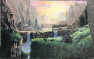 Colored Pencil Landscape by sarahattalla