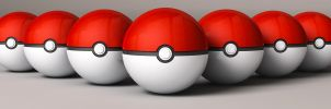 Pokeballs all in a Row by foreverCTY