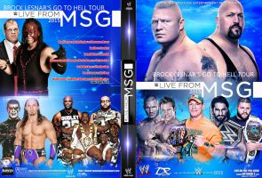 WWE live from MSG 2015 DVD Cover by Dinesh-Musiclover