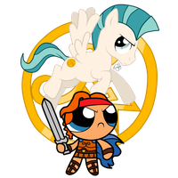 The Mighty Hercules and Pegasus by KleeKay423