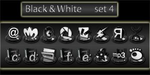 black and white icons set4 by xylomon