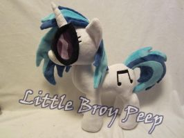 MLP Plushie Vinyl scratch Djpon3 plush(commission) by Little-Broy-Peep