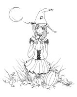 Innocent Witch Lineart by Keira-Sama