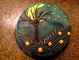 Halloween Cake by ThornQueen