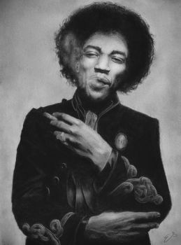 Jimi Hendrix by TheEndlessRiver