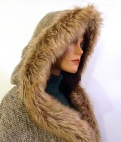 Faux Fur Hooded Poncho by LillysWorkshop