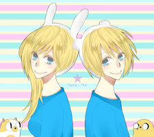 AT : Finn and Fionna by EmilyHime