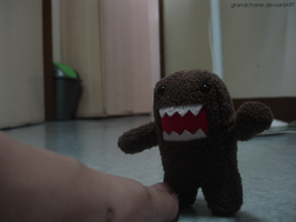 Domo eats my foot by GrandChaser