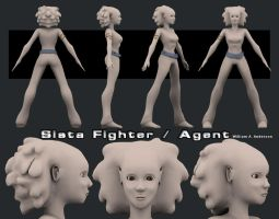 Sista Fighter or  Agent by blaquejag