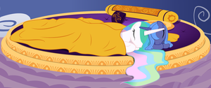 Luna and Celestia Sleeping by Nimaru