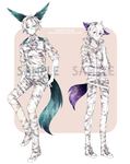 [CLOSED] Adoptable: Monochrome XVIII + XIX by Staccatos