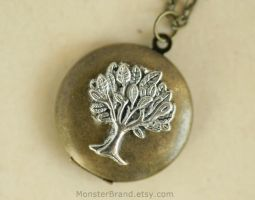 Tree of Life Locket - Necklace by MonsterBrandCrafts