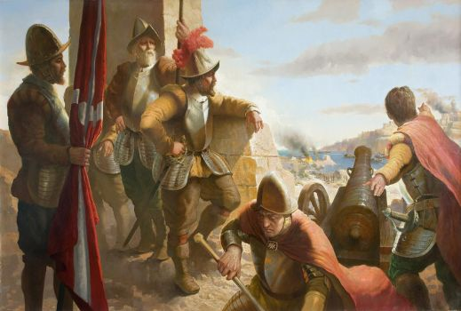 The Great Siege Of Malta 1565 by andrianart