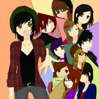 Me and My Friends :D by deaththechick101