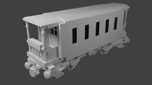 LEGO Passenger Car (with .blend) by codefox421