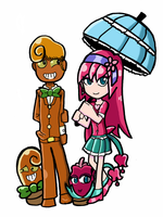 Her and His  [pvz  gijinka ] by Castervashira77