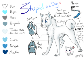 .:Ref:. Stupid the dog by SilverfanNumberONE