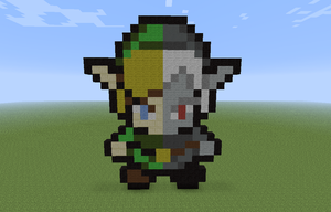 16-bit link/dark link minecraft by DeadplinkOfTheSand