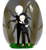 Slenderman finally gets his hug by hiimawari