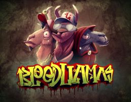 Blood Llamas by KendrickTu