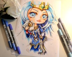 Queen Ashe and Bard plushie by Lighane