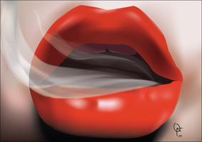 Smoking Lips by frankwyte81