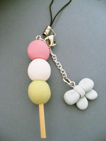 Dango and Bow Phone Charm by ViVoRiNo99