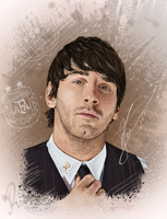 Leo Messi portrait by ramessz