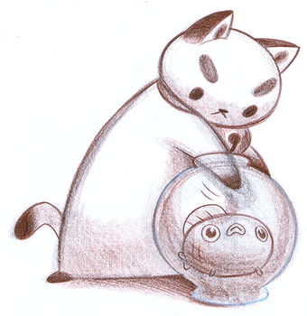 PuppyCat and Wallace by Pocketowl
