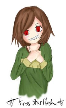 Chara (Undertale) Half Body by Kiros-Starflash