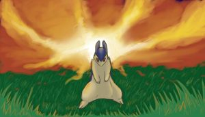Painting-ish Typhlosion by XxMaz-AlmightyxX