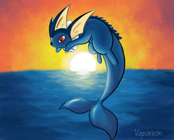 Vaporeon - Day 4 by Miss-Callie-Rose