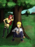 .::Minato and Kushina::. by Kiaraofpacera