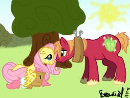 Fluttershy and BigMac... by Brownie-12