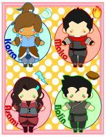 New Team Avatar Chibis by MidniteHearts
