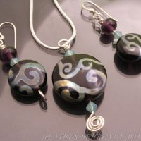 Rainbow Scrolls Jewelry by booga119