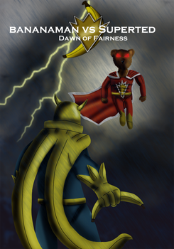 Bananaman Vs. Superted by Luke-the-F0x