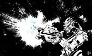 Daily Sketch 11/20: Turian Soldier by the-karl