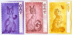 ATC - 'kitties' by Neko-Art