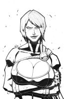 Powergirl lines by ZipDraw