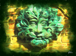 Blessed Greenman by The-Pagan-Gallery