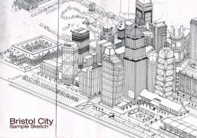 3D City Sketch by eathan28