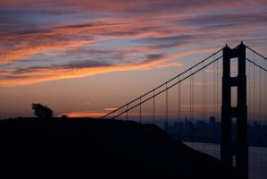 GG Bridge Sunrise by themobius