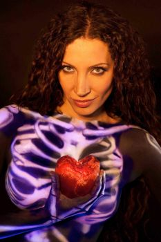 skeleton with heart 3 by AngieStock